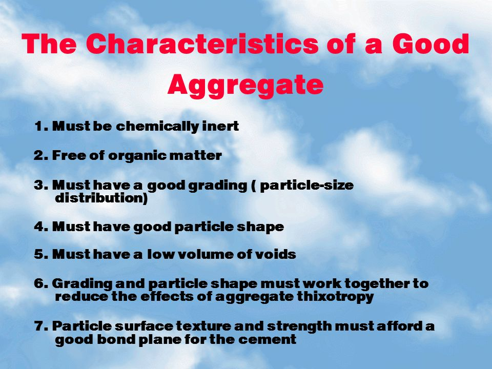 The Characteristics of a Good