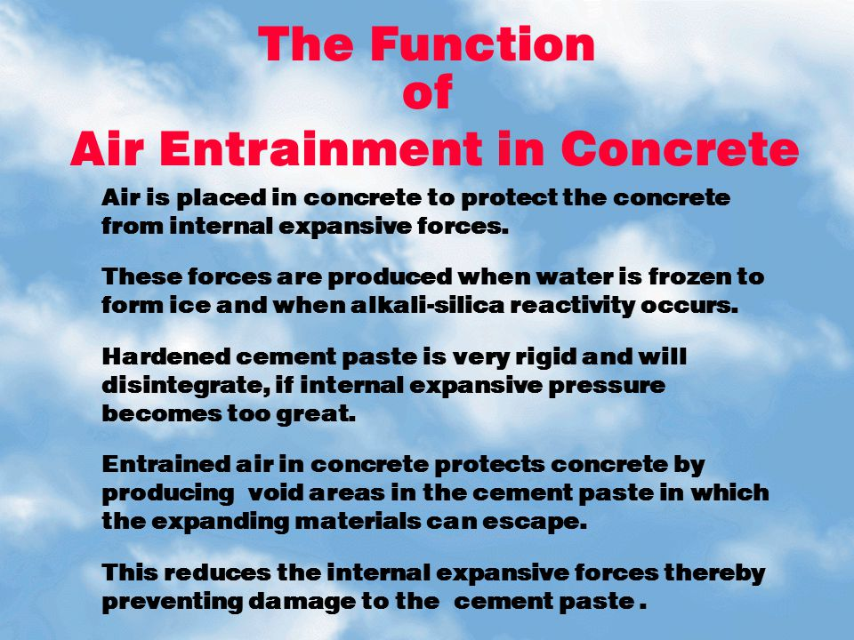 Air Entrainment in Concrete