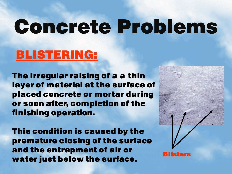 Concrete Problems BLISTERING: