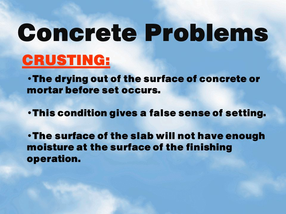 Concrete Problems CRUSTING: