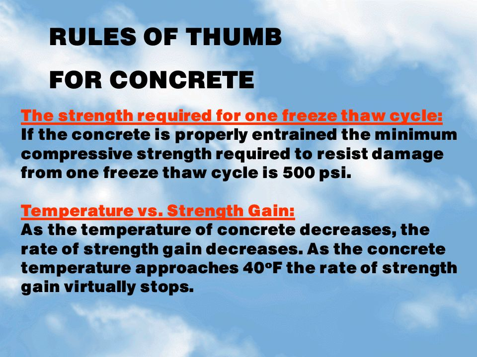 L m construction chemicals concrete basics ppt download for What happens to concrete if it freezes