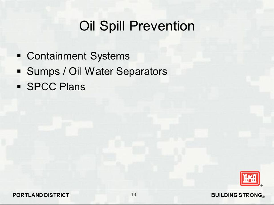 Oil Spill Prevention Containment Systems Sumps / Oil Water Separators