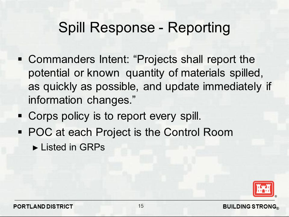 Spill Response - Reporting