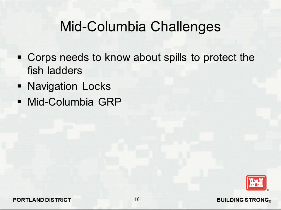 Mid-Columbia Challenges