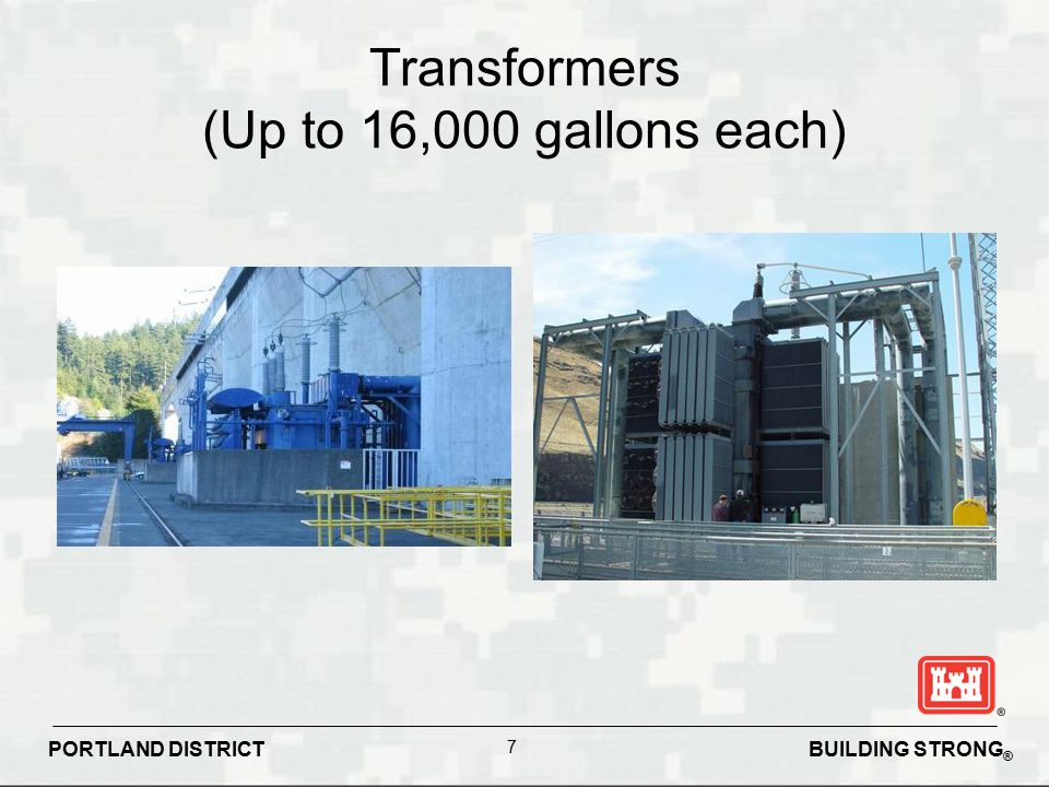 Transformers (Up to 16,000 gallons each)