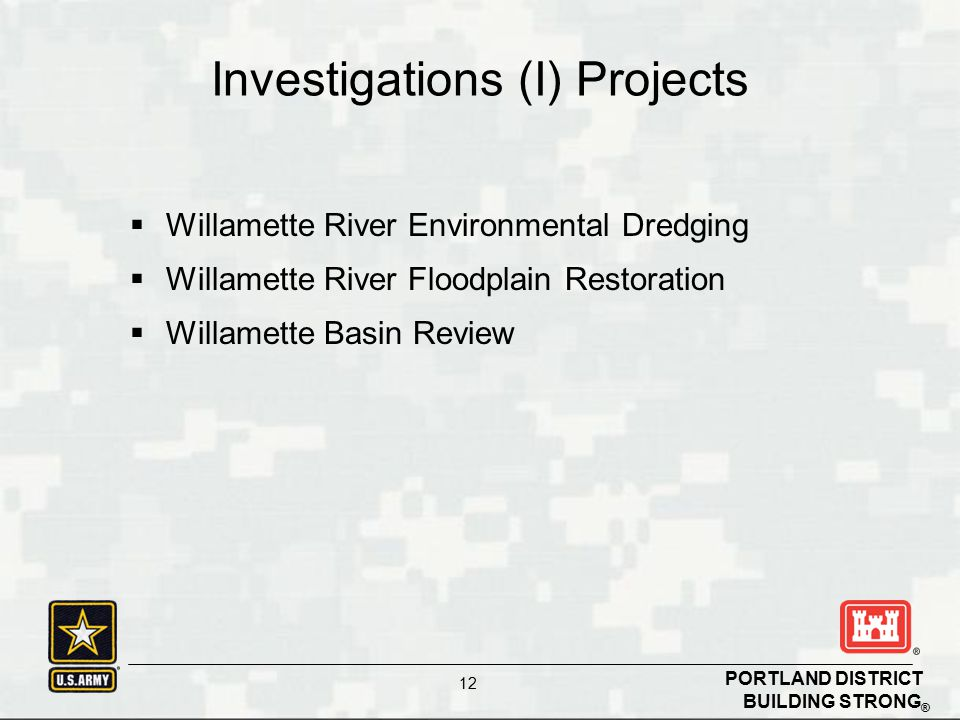 Investigations (I) Projects