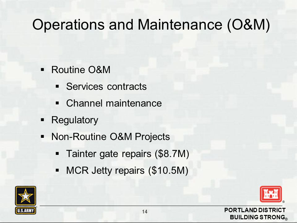 Operations and Maintenance (O&M)