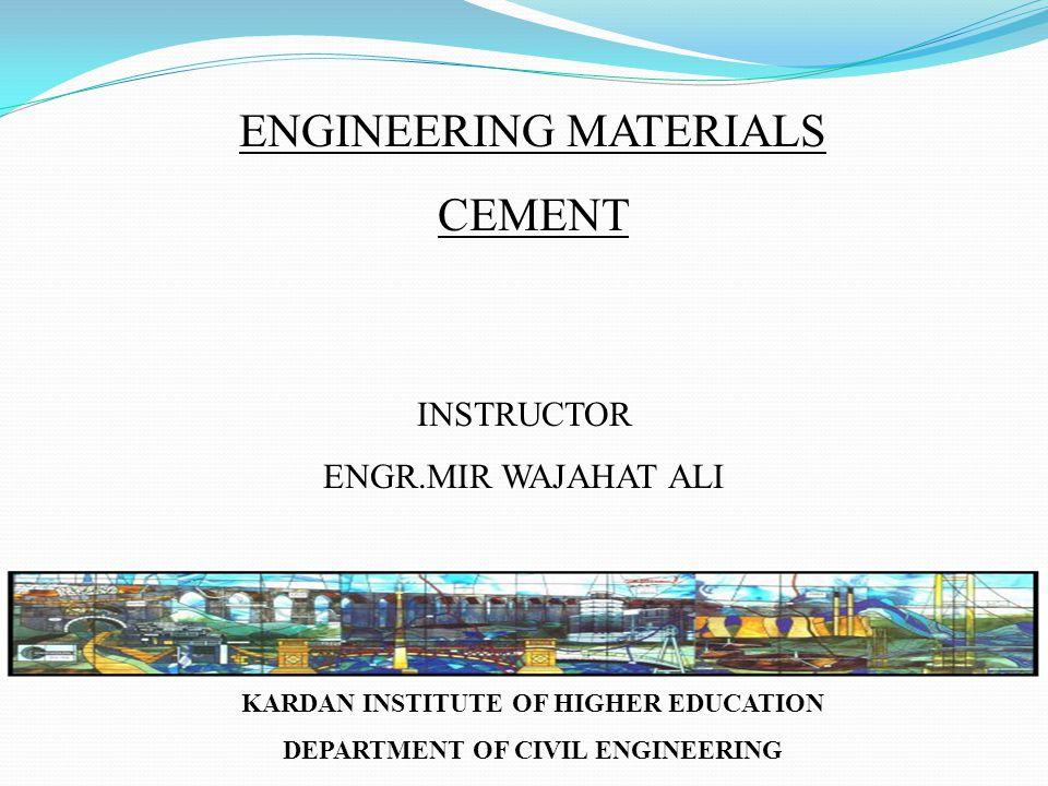 KARDAN INSTITUTE OF HIGHER EDUCATION DEPARTMENT OF CIVIL ENGINEERING