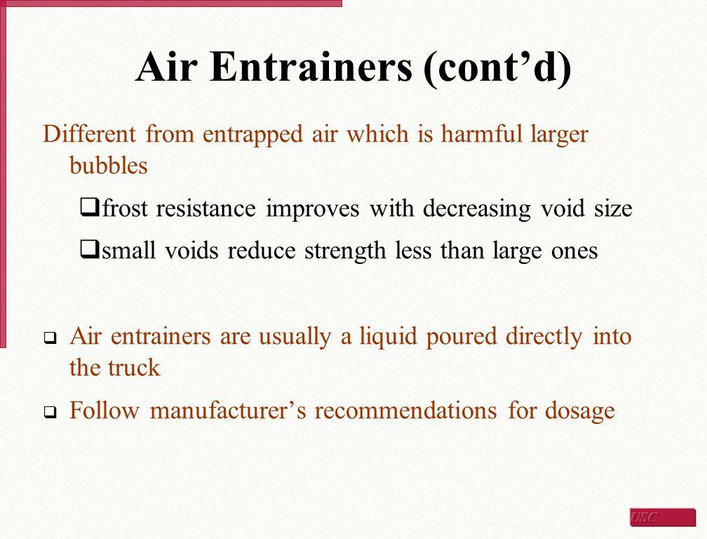Air Entrainers (cont'd)