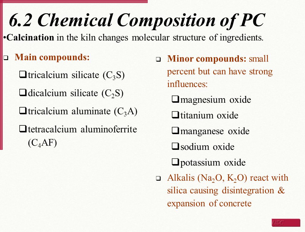 6.2 Chemical Composition of PC