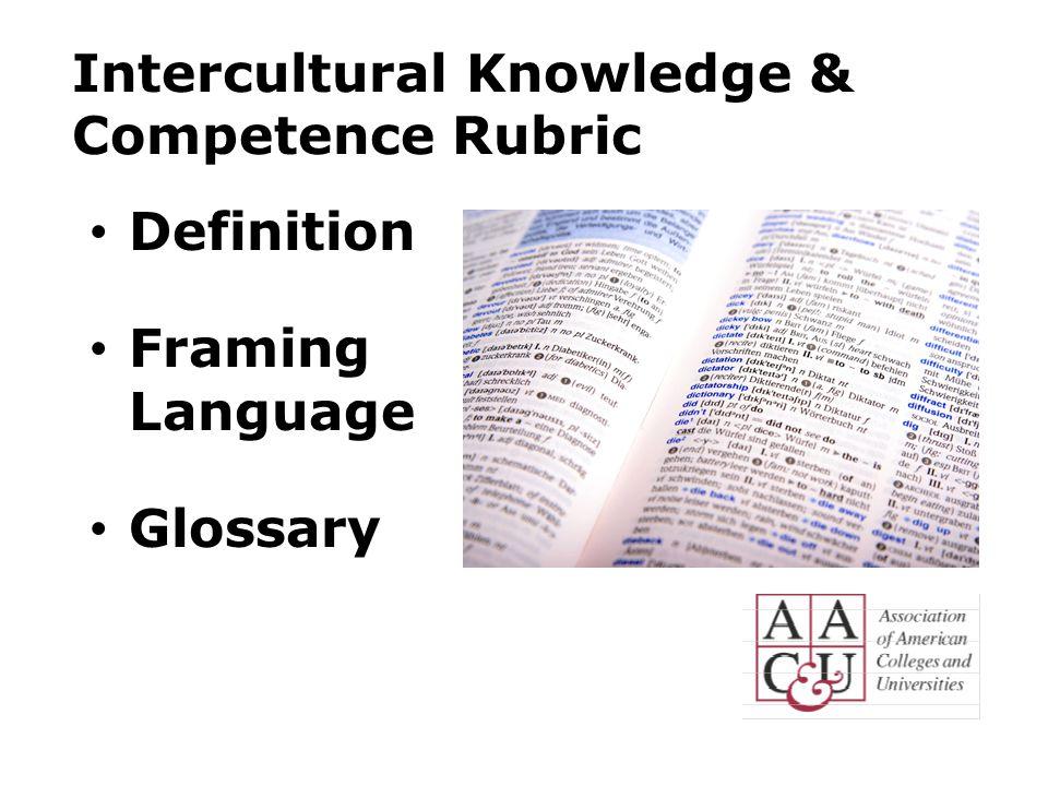 Intercultural Knowledge & Competence Rubric