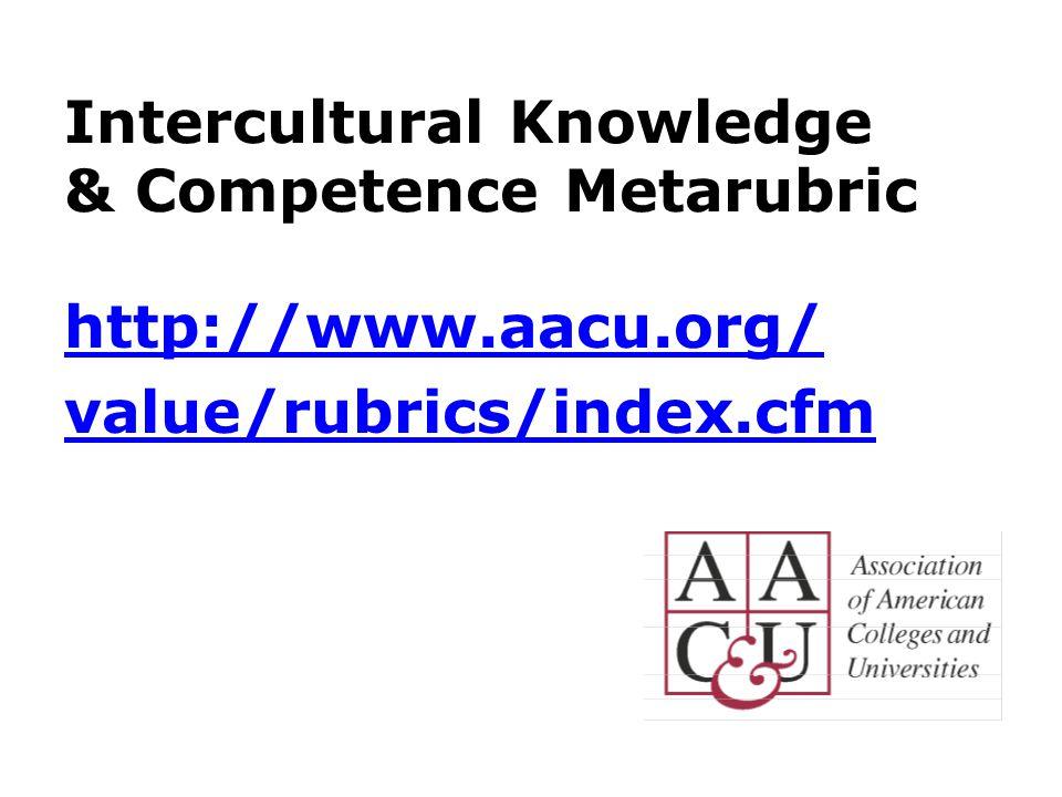 Intercultural Knowledge & Competence Metarubric