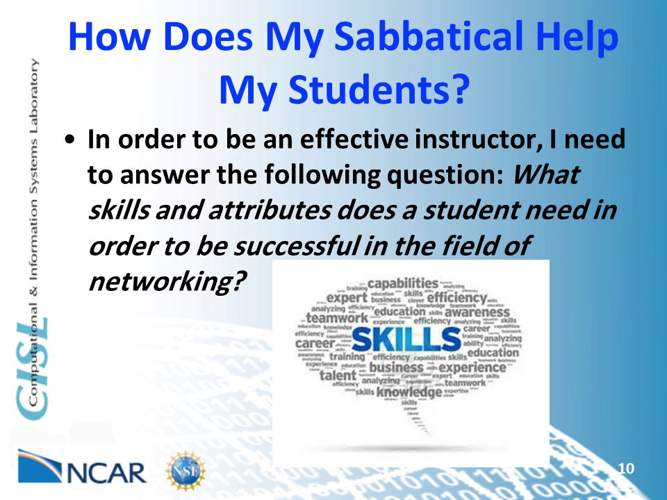 How Does My Sabbatical Help My Students