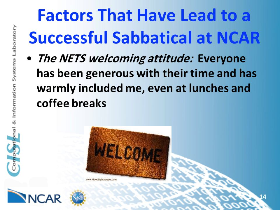 Factors That Have Lead to a Successful Sabbatical at NCAR