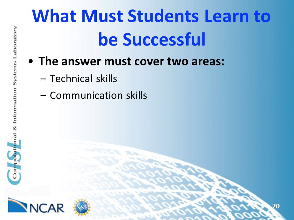 What Must Students Learn to be Successful