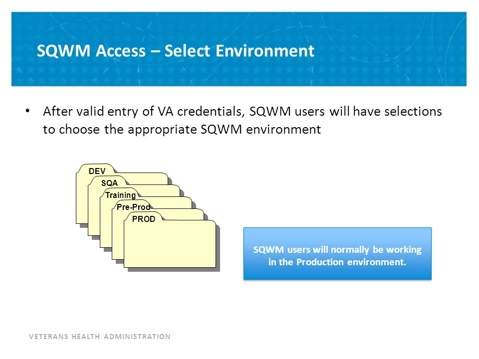 SQWM Access – Install Group Selection