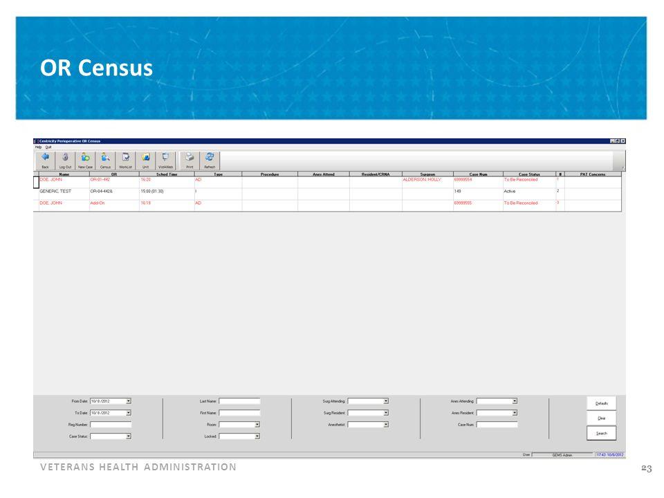 Pending Work Census