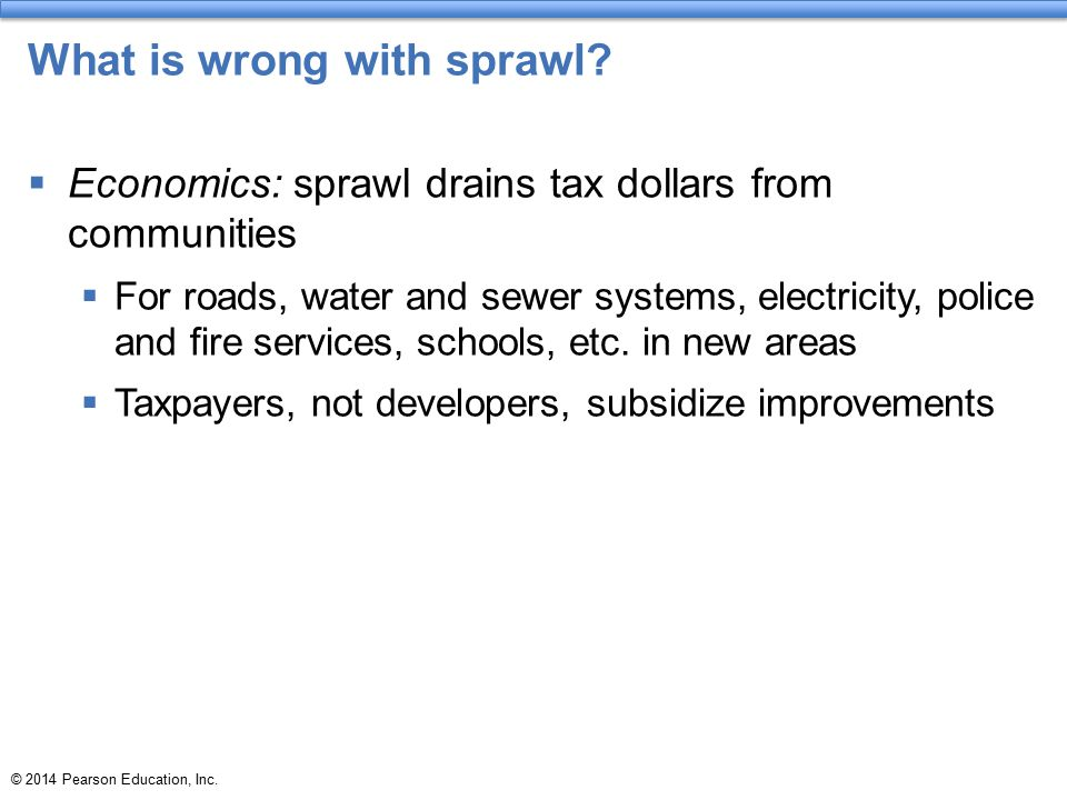 What is wrong with sprawl