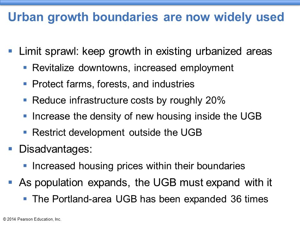 Urban growth boundaries are now widely used