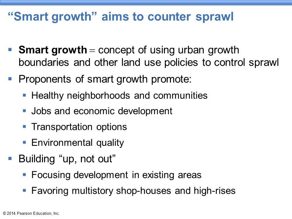 Smart growth aims to counter sprawl