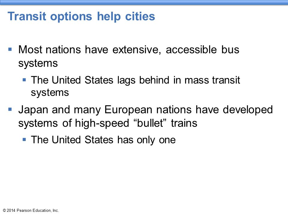 Transit options help cities