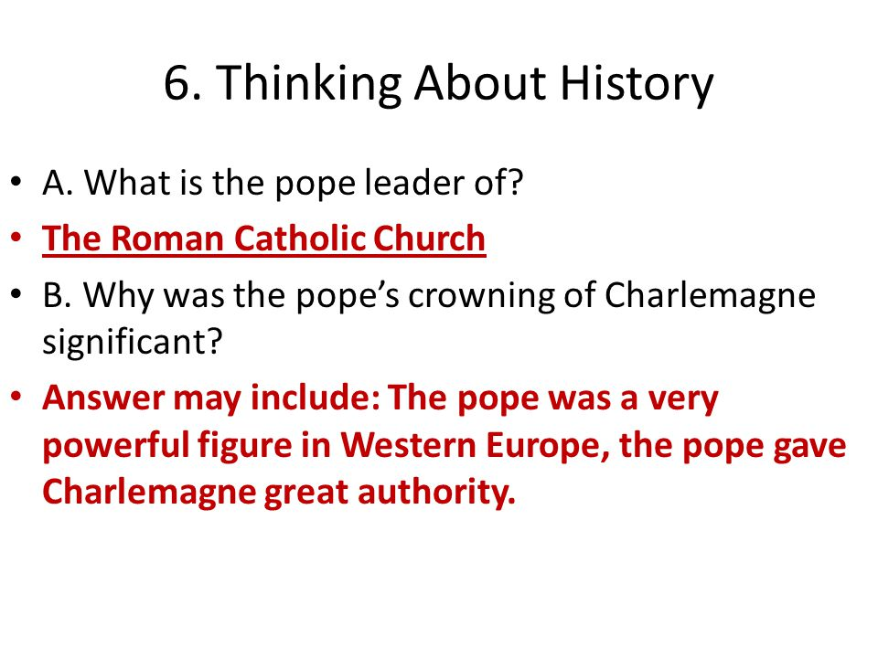6. Thinking About History