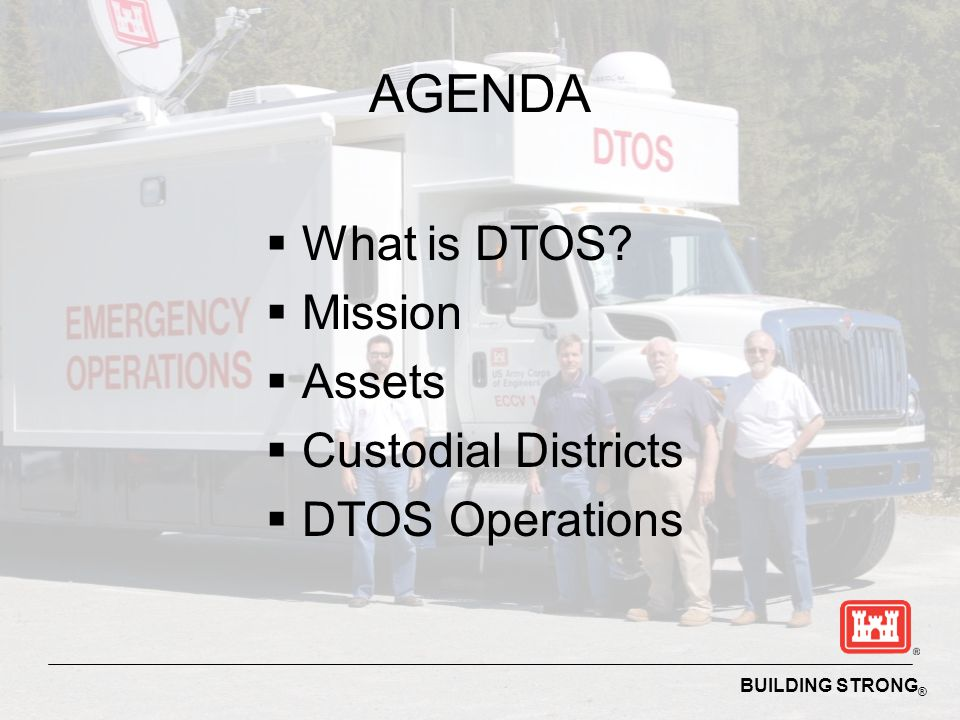 AGENDA What is DTOS Mission Assets Custodial Districts