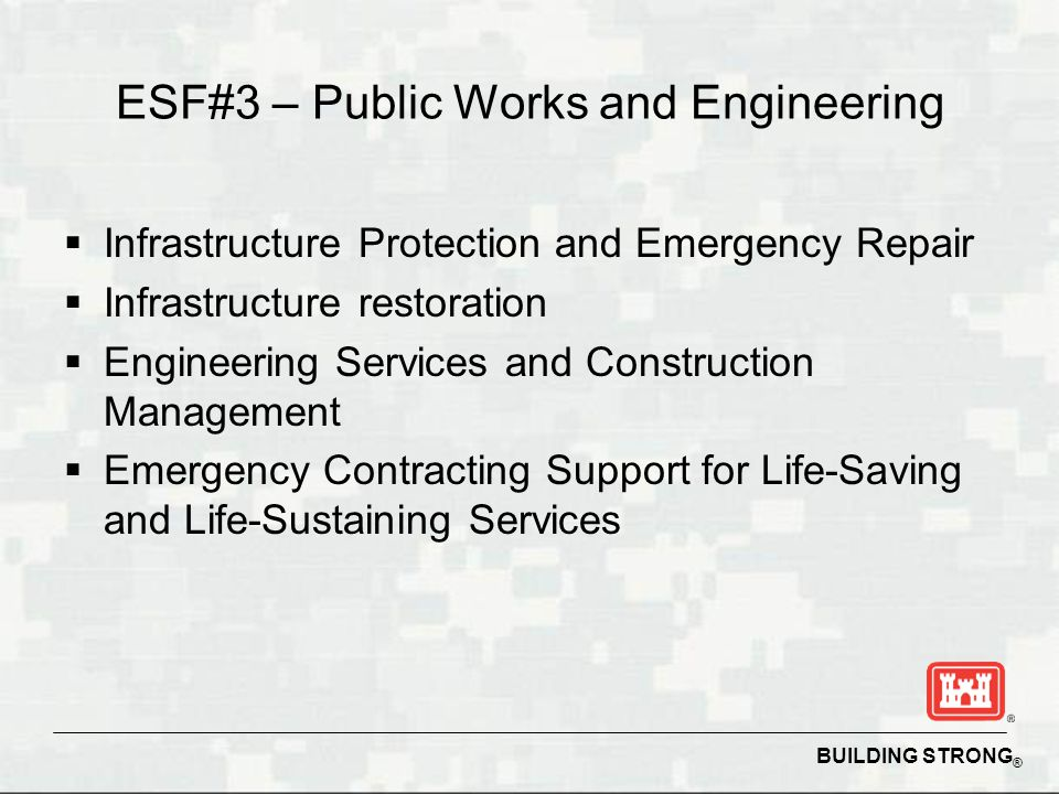 ESF#3 – Public Works and Engineering