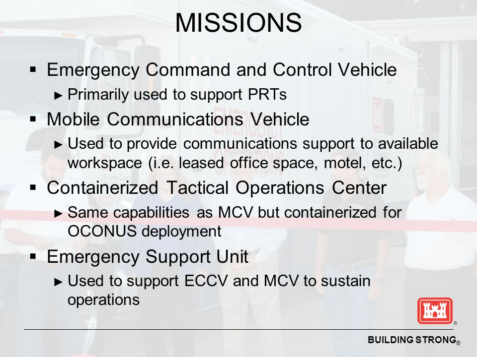 MISSIONS Emergency Command and Control Vehicle