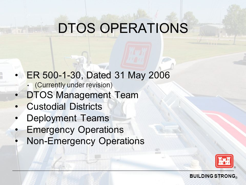 DTOS OPERATIONS ER 500-1-30, Dated 31 May 2006 DTOS Management Team