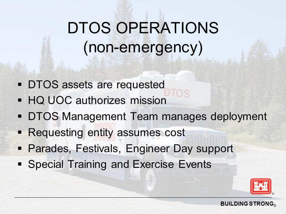 DTOS OPERATIONS (non-emergency)