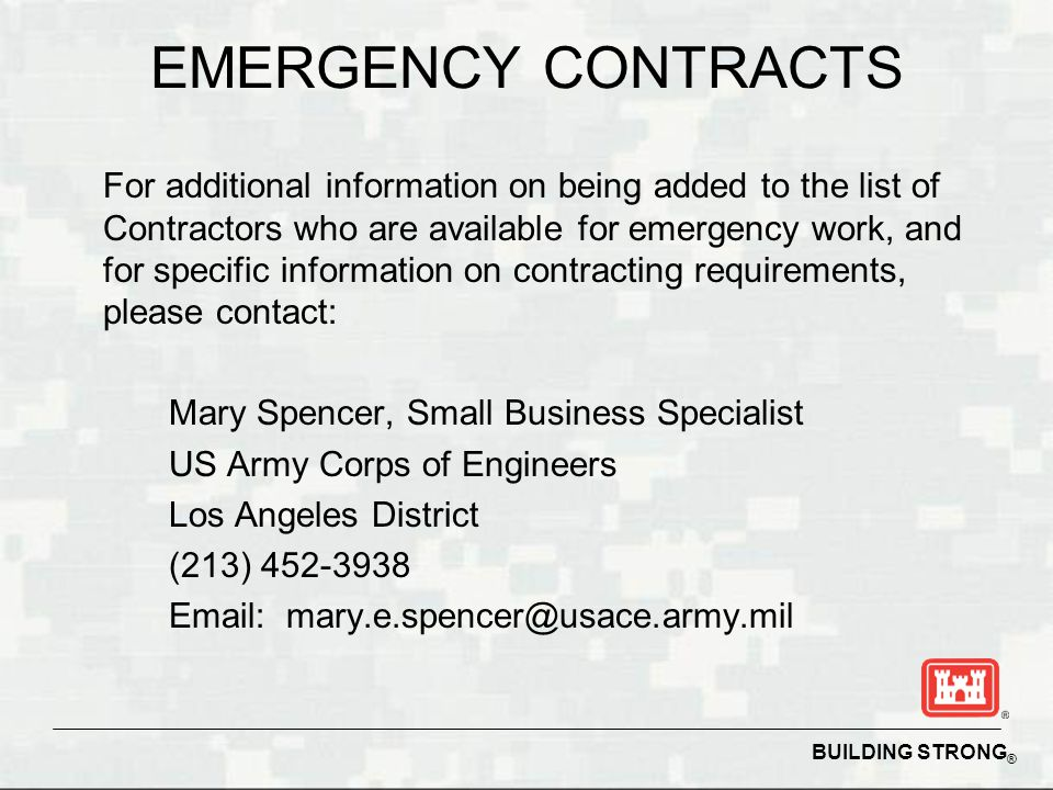 EMERGENCY CONTRACTS