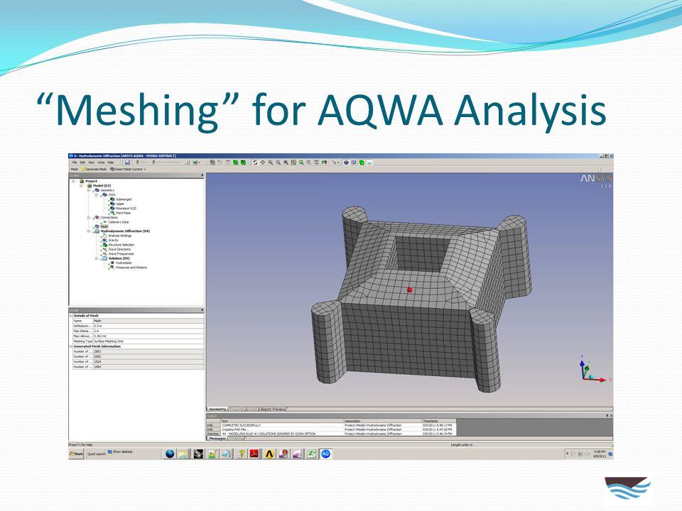 Meshing for AQWA Analysis