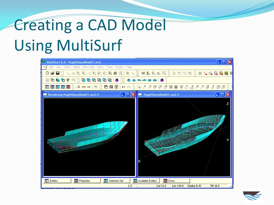 Creating a CAD Model Using MultiSurf