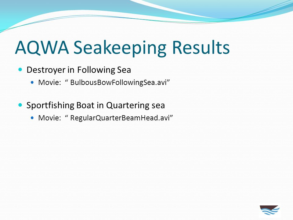AQWA Seakeeping Results