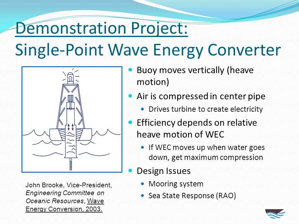 Demonstration Project: Single-Point Wave Energy Converter