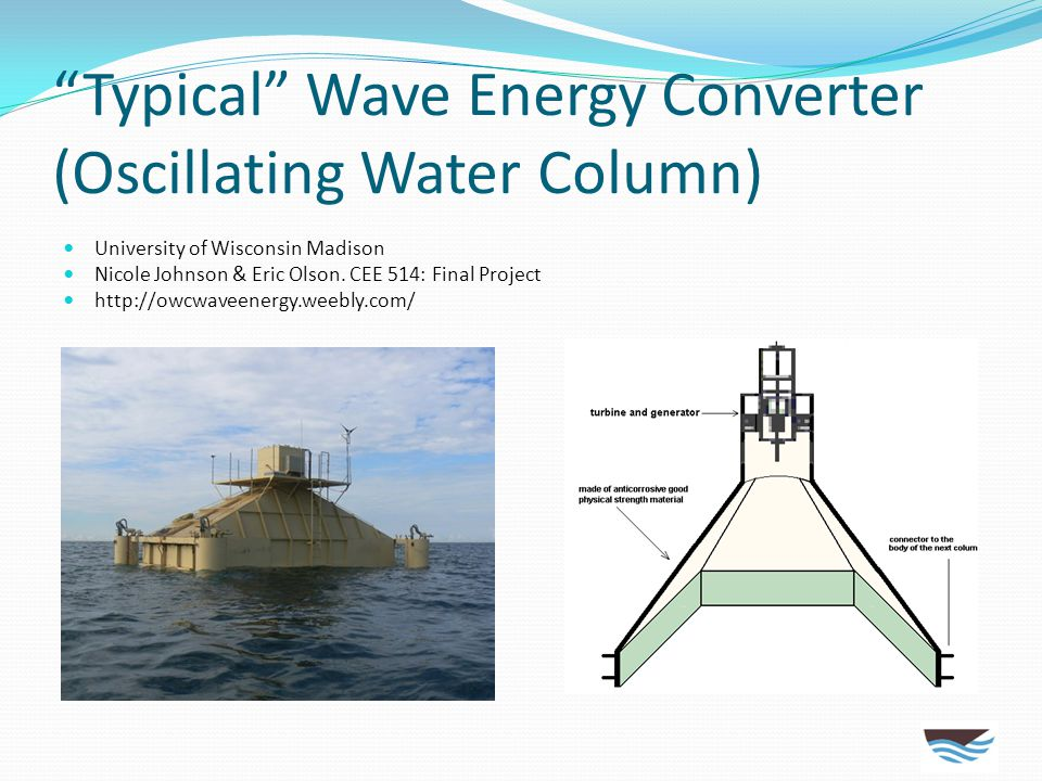 Typical Wave Energy Converter (Oscillating Water Column)