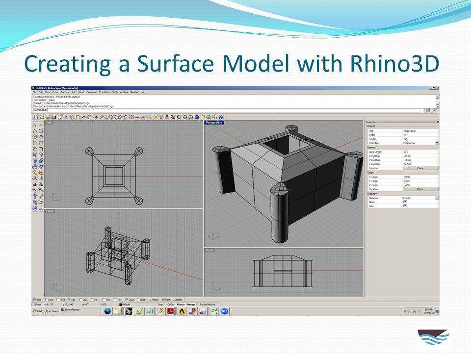 Creating a Surface Model with Rhino3D