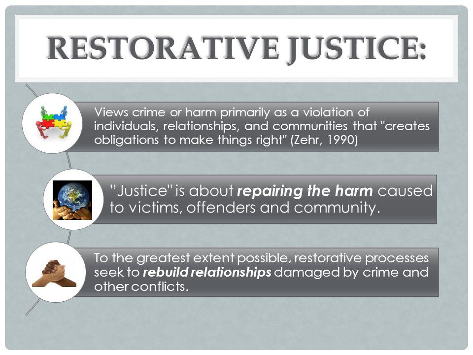 RESTORATIVE JUSTICE: