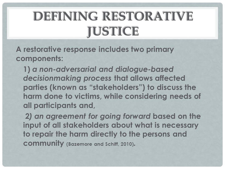 DEFINING RESTORATIVE JUSTICE