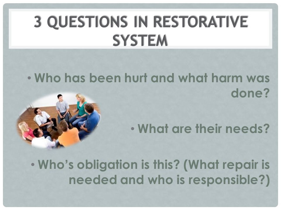 3 QUESTIONS IN RESTORATIVE SYSTEM