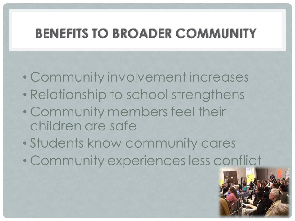Benefits to Broader Community