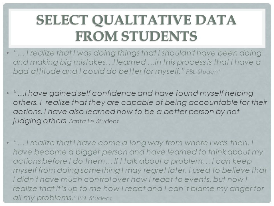 SELECT QUALITATIVE DATA FROM STUDENTS