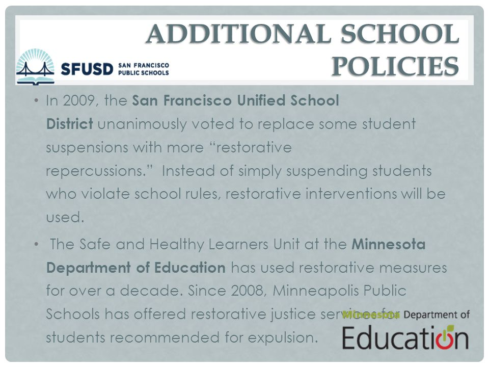 ADDITIONAL SCHOOL POLICIES