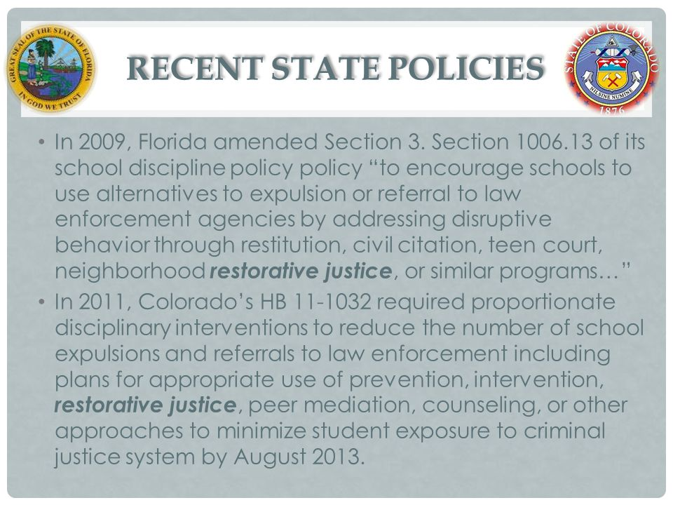 RECENT STATE POLICIES
