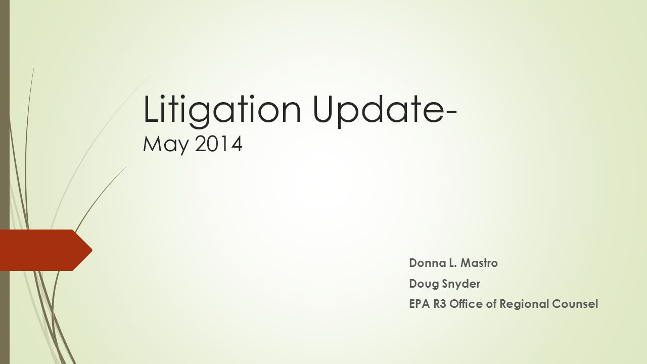 Litigation Update- May 2014