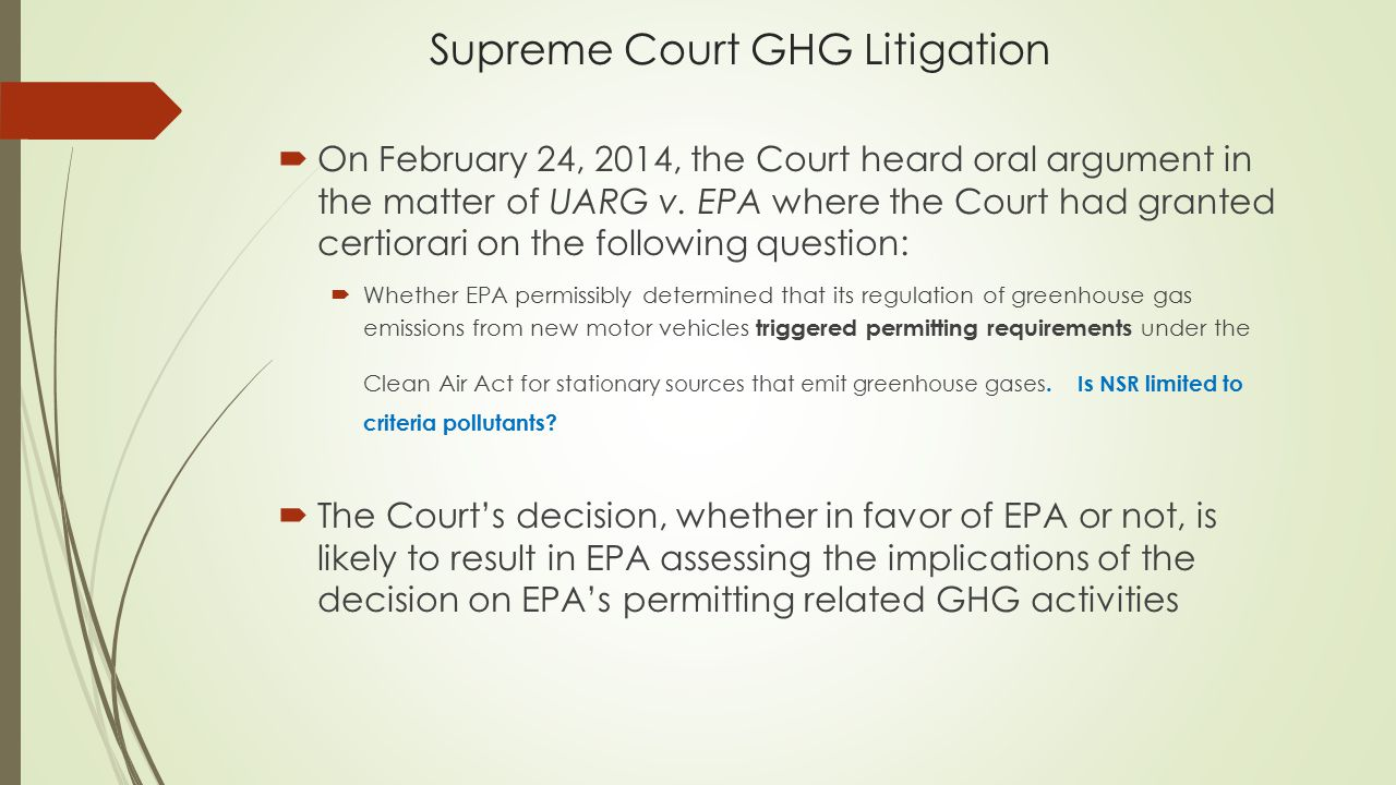 Supreme Court GHG Litigation