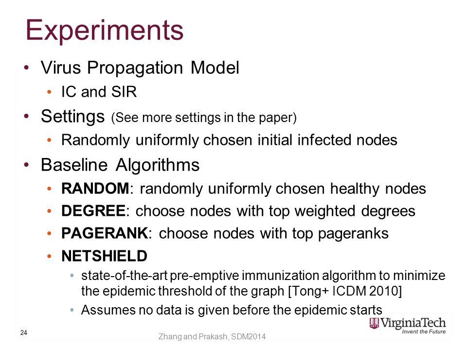 Experiments Virus Propagation Model