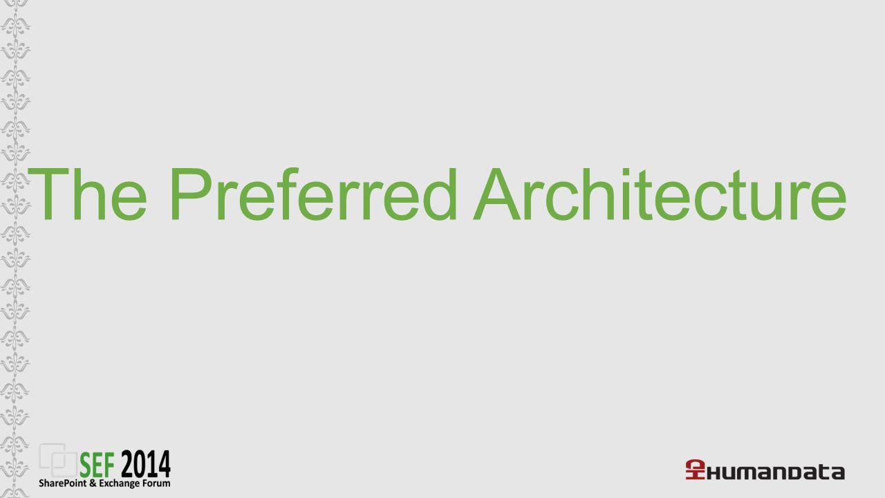 The Preferred Architecture