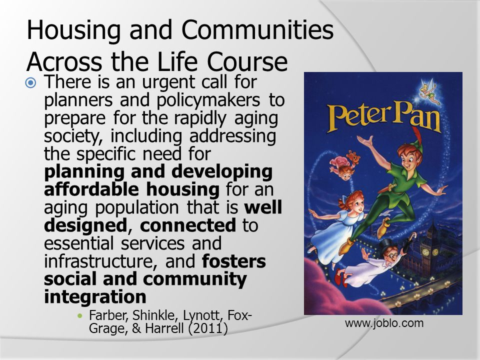 Housing and Communities Across the Life Course